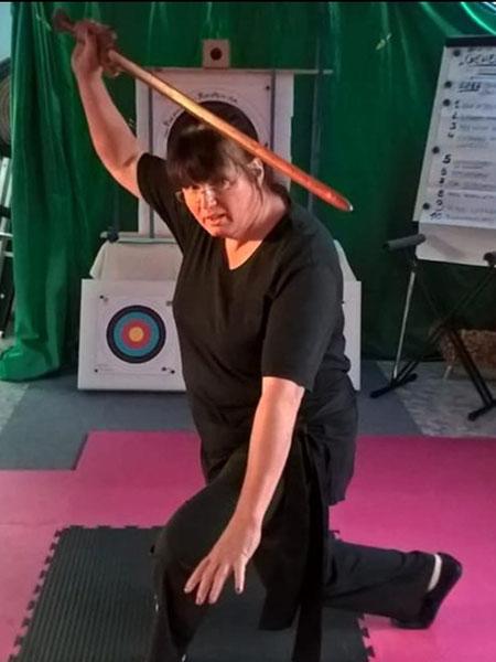 Kampfkunst Verteidigungshaltung